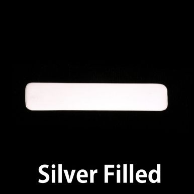 Metal Stamping Blanks Silver Filled Large Long Rounded Rectangle, 24g