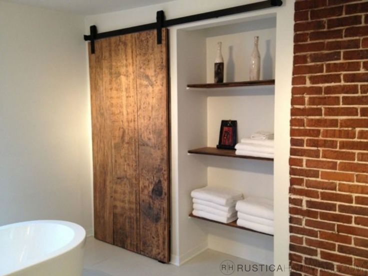Industrial Barn Door Hardware And Barn Doors   Contemporary   Bathroom    Salt Lake City   Rustica Hardware Part 77