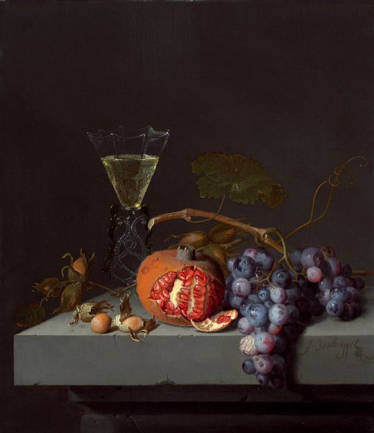Jacob van Walscapelle - Still Life with Fruit 1675 oil on panel National Gallery of Art, Washington D. C.