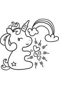Раскраска Единорог спит в облаках | Раскраски Единороги ...