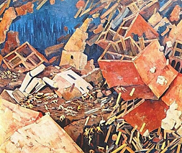 The Symphony of Action, 1922 by Konstantin Yuon. Socialist Realism, Symbolism. symbolic painting