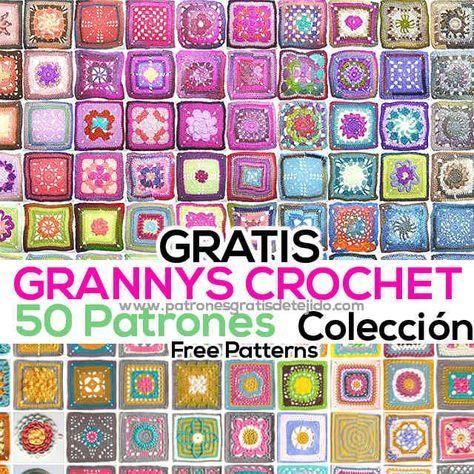 50 patrones de grannys crochet para descargar gratis