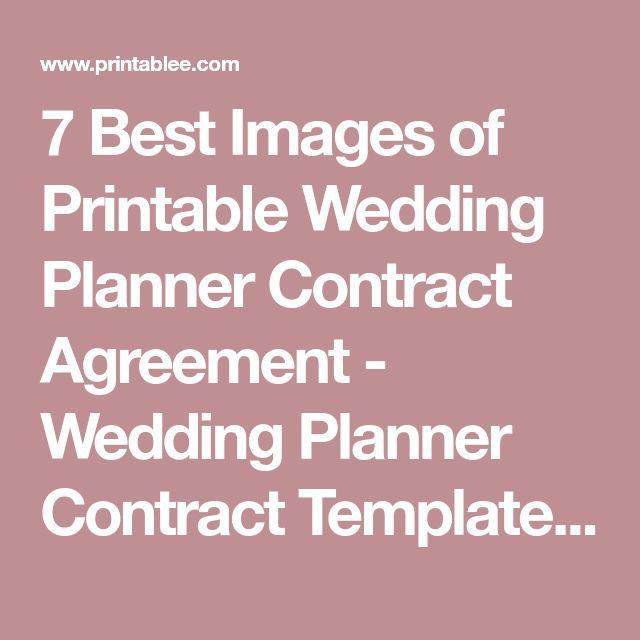 The 25+ best Best wedding planner ideas on Pinterest Wedding - event planner contract