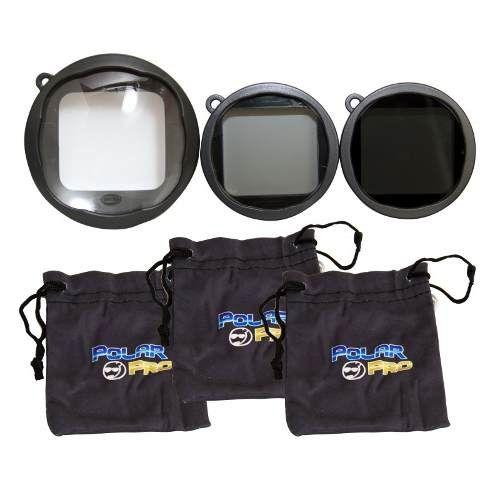 kit lentes gopro macro filtro polarizador polar pro p1015