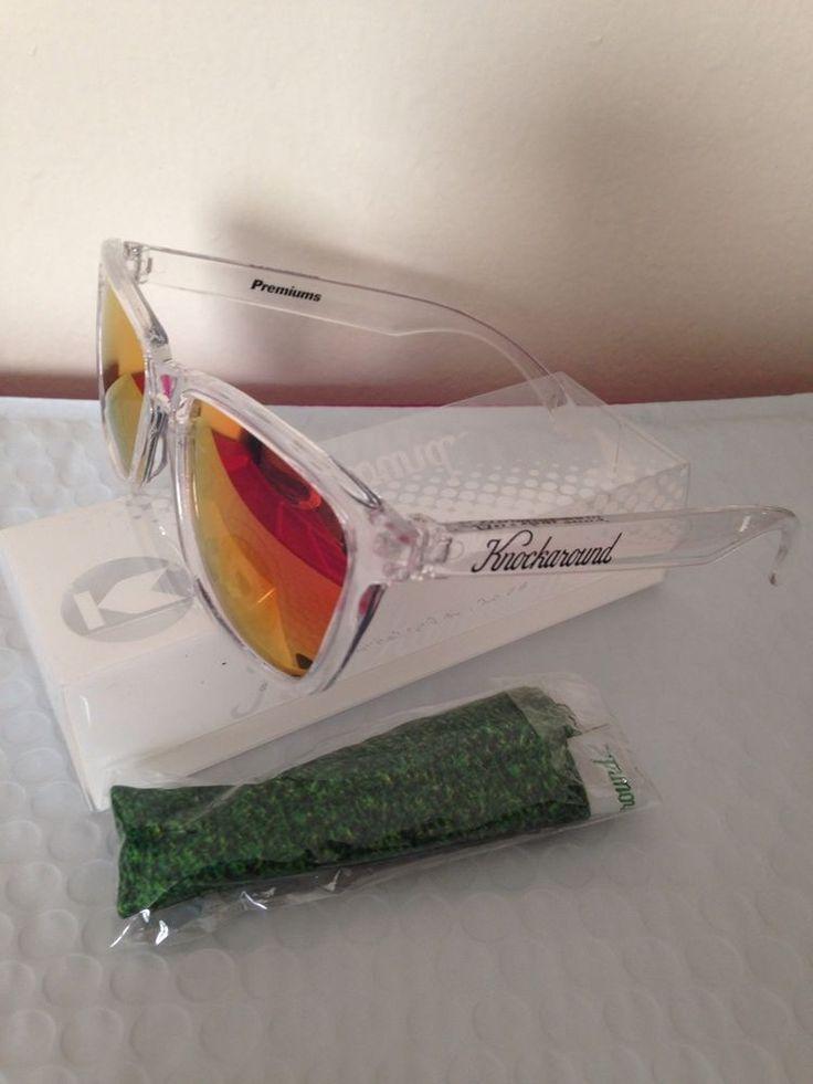 Knockaround Sunglasses Clear Red Sunset Classics #Knockaround #Sport