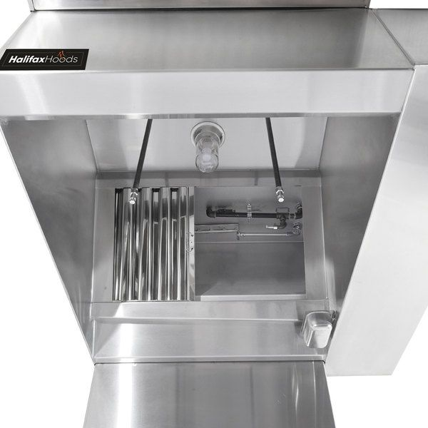 Halifax 421brpho2048 Type 1 20 X 48 Commercial Kitchen Hood With Brp Makeup Air Hood Only Commercial Kitchen Kitchen Hoods Fire Suppression System