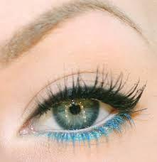 Bildresultat för turkos kajal på gröna ögon