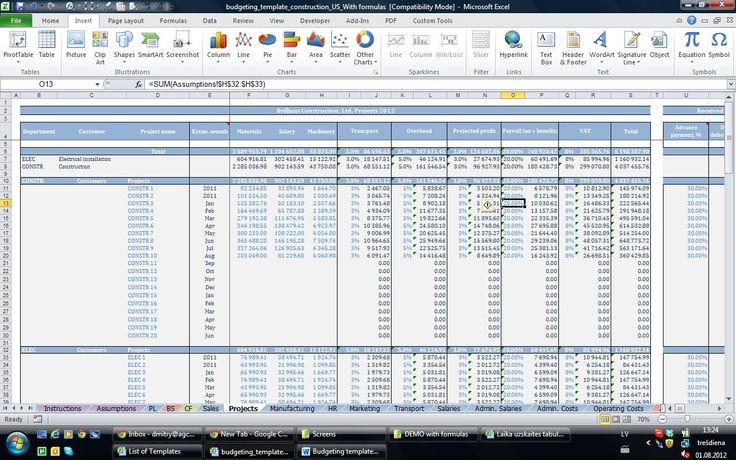 12Month Business Budget Template for Excel, Free Download