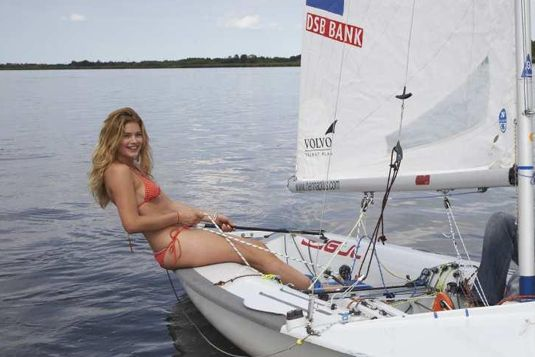 The photo that started the career of Dutch supermodel Doutzen Kroes. Sailing the Frisian lakes. Fryslân Boppe!