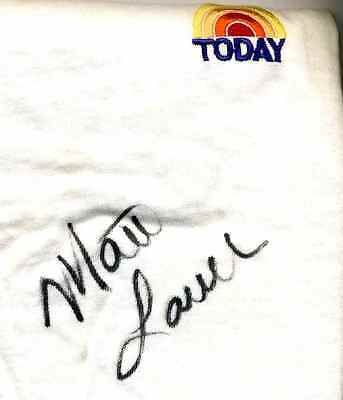 MATT LAUER (TODAY SHOW HOST) AUTOGRAPHED SIGNED SHIRT **ON SALE** S-19