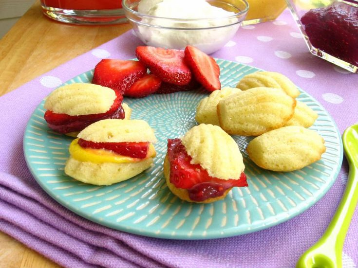 Lemon Madeleines with Mango and Raspberry Curd — and a chance to win a mixer! > Willow Bird Baking