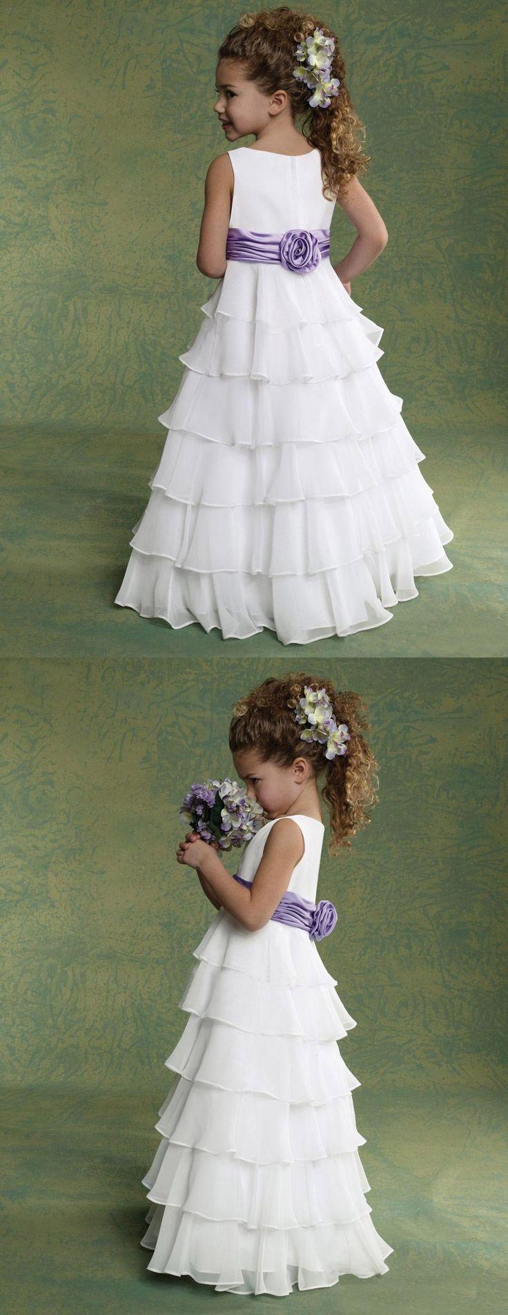 Flower Girl Dresses For Wedding A-Line Sleeveless Floor Length Chiffon girls pageant dresses New Hot