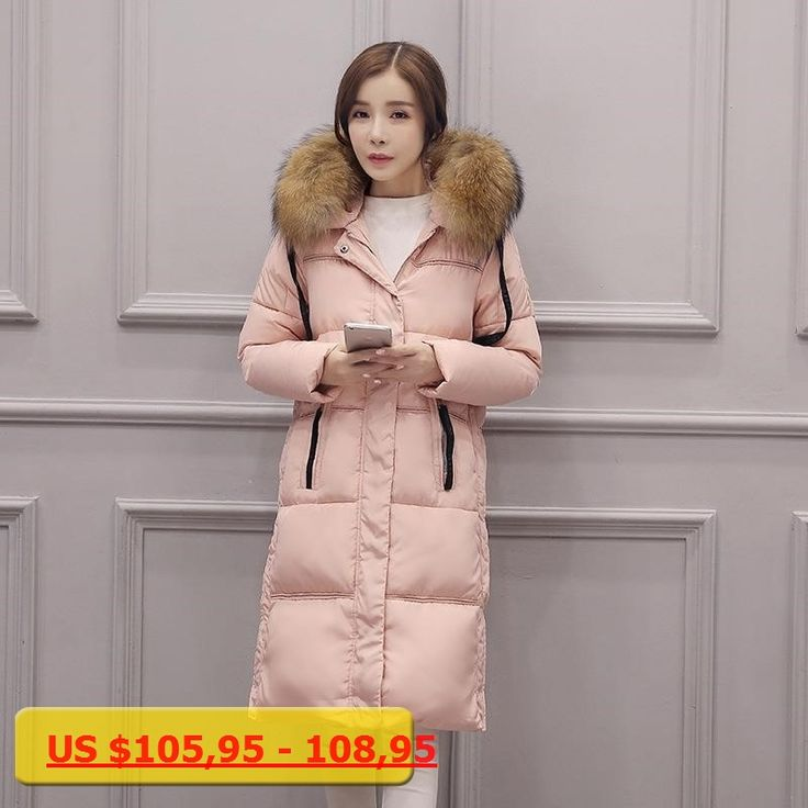 2016 Winter Womens Warm Parka Made of Goose Feather Goose Down Winter Women Long Down Coat with Fur Hood ow0237