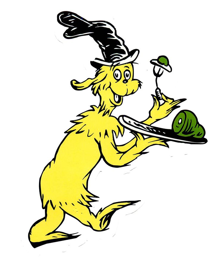 dr Seuss Characters Clip Art