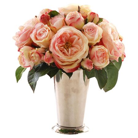 Jane Seymour Rose Arrangement in Julep Cup