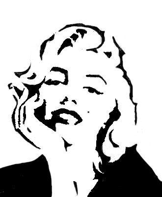 Marilyn Monroe Stencil 12x12