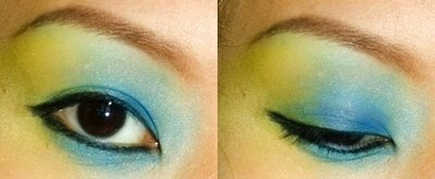 Yellow/Green/Blue All-Over Blend