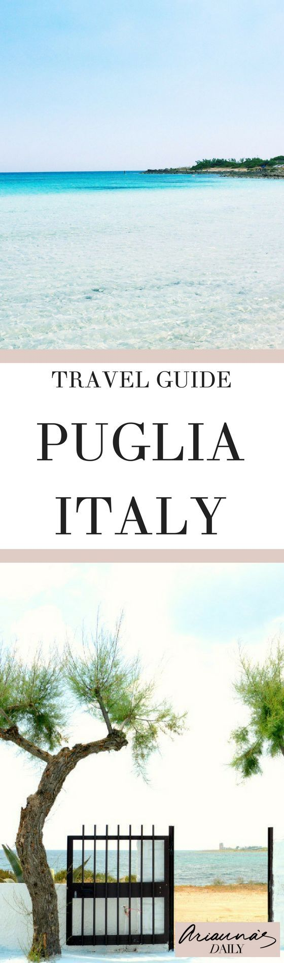 A wonderful travel guide to Puglia, Italy, ideal for summer holidays 2018 and beyond. Including white sandy beaches at Punta Proscuitto and the historic city of Lecce #italy #puglia #travelblogger
