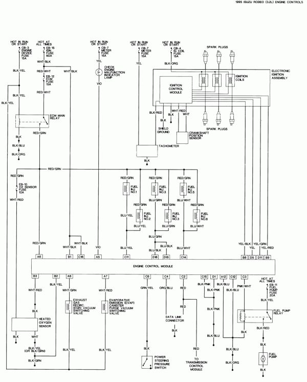 95 Honda Civic Engine Wiring Diagram And Isuzu Amigo