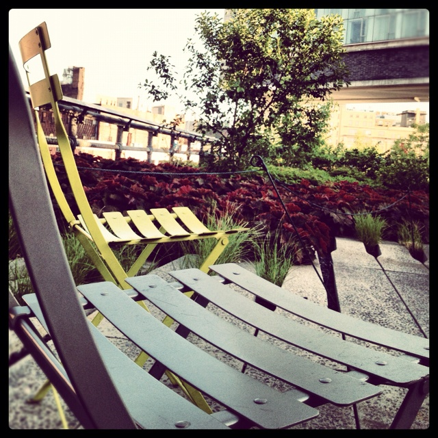 take a seat, #highline #nyc: Favorite Places, Roof Terraces, Highlin Nyc, Throw Pillows, Outdoor Spaces