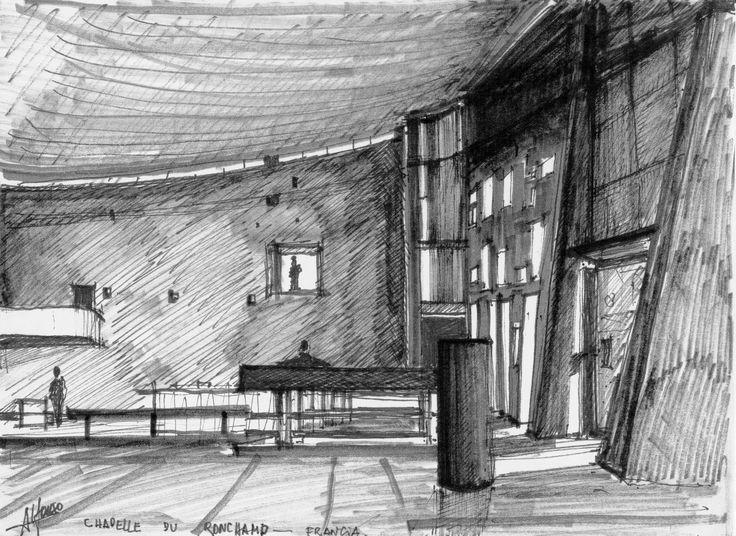 Interior Ronchamp; Le Corbusier