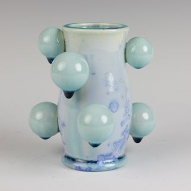 Kate Malone: Blue Atomic Baby Vase