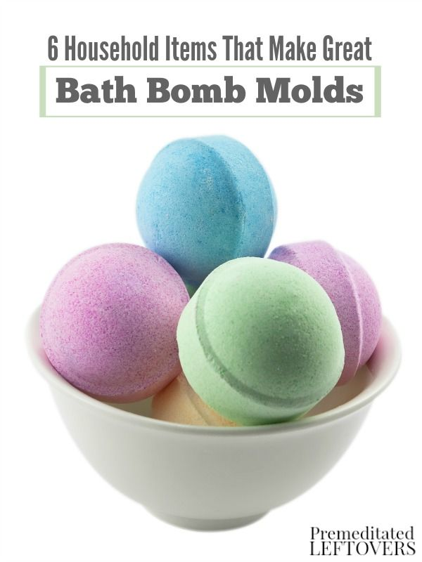 You don't need store bought molds to make bath bombs. Save your money and use one of these 6 Household Items That Make Great Bath Bomb Molds instead.