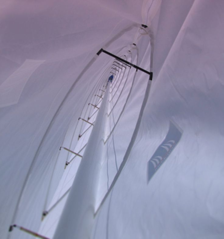The structure of the lead element of the Beneteau wing is straightforward. Photo courtesy of Beneteau