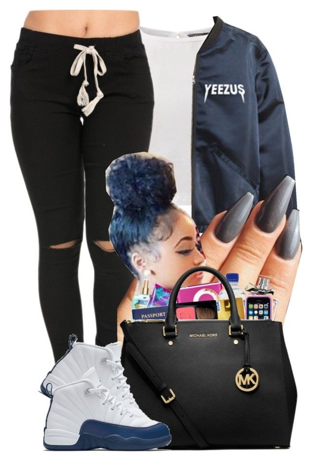 """Yeezus"" by ohhsnapkarissa ❤ liked on Polyvore featuring NIKE"