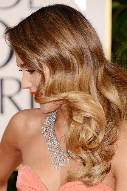 Honey and caramel sombre hair - beautiful hollywood wave too - achievable with the Babyliss Perfect Curl - now in stock!