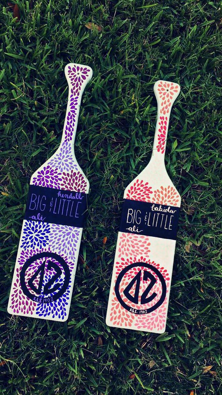 Sorority paddles for my lovely twins