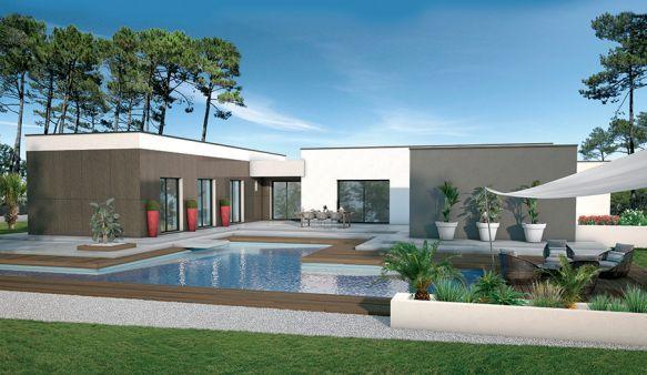 Maison modèle Palmier (modèle maison contemporain) - Logis du Pertuis Constructeur maison individuelle Charente-Maritime Poitou-Charentes (17)