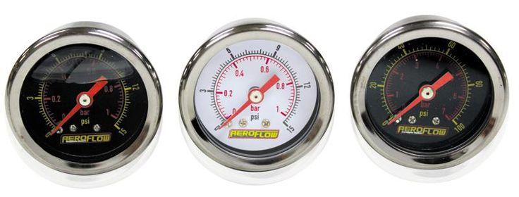 """AF30-2000 - 1-1/2"""" Liquid Filled 15 psi Pressure Gauge"""