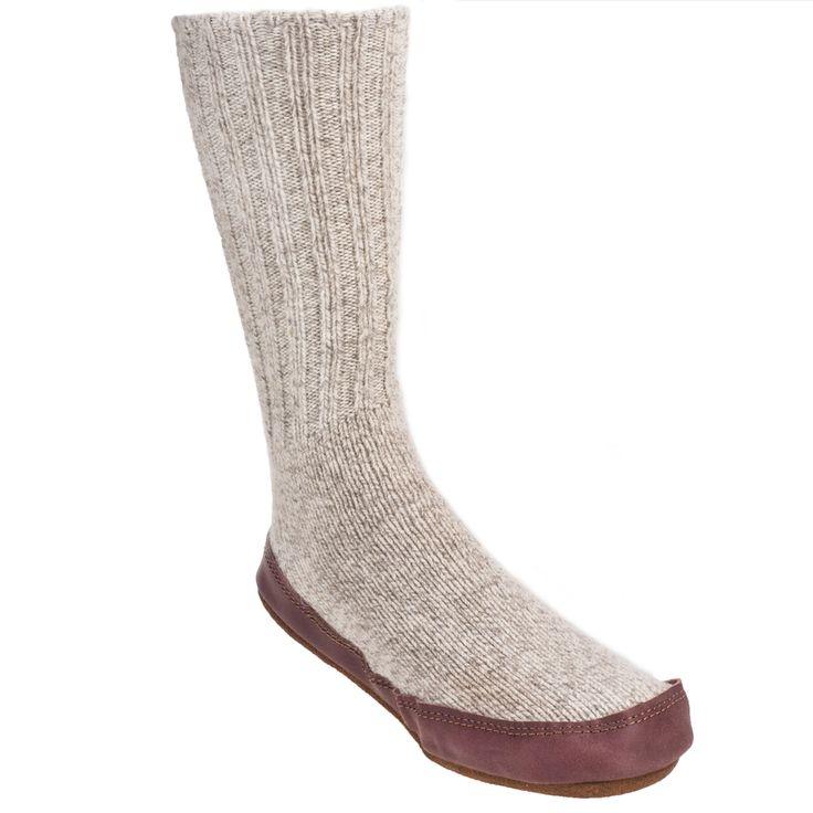Acorn Slippers Women's A10118 LRW Light Grey Original Wool Slipper Soc