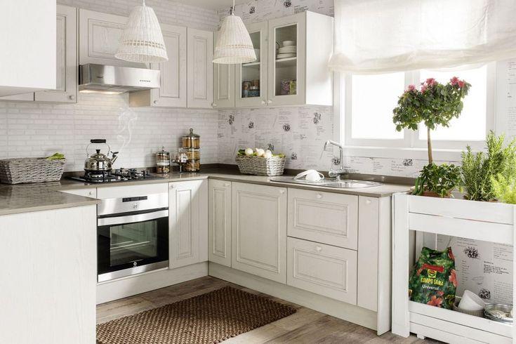 Resultado de imagen de cocina blanca rustica moderna