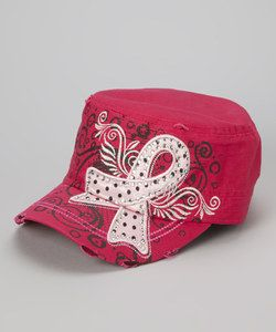 Pink hat for breast cancer
