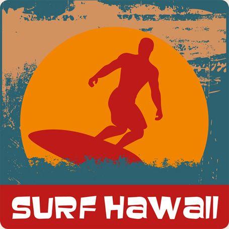 Retro Surf Art | Hawaiian Vintage Art Decal Surf Hawaii Sticker Surfing | eBay