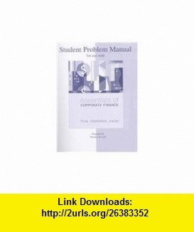 7 best e book downloads images on pinterest student problem manual to accompany essentials of corporate finance 9780073313139 stephen ross randolph fandeluxe Image collections