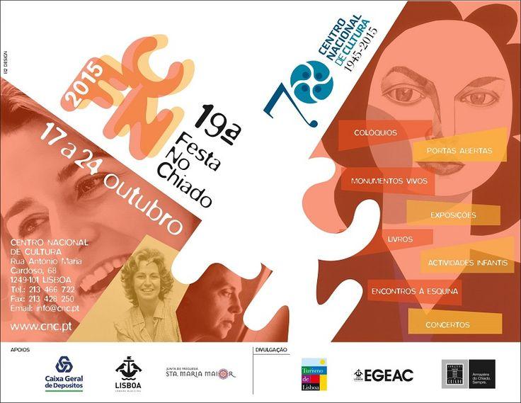 19ª edição da FESTA NO CHIADO dedicada ao 70º aniversário do CNC | 17 a 24 de Outubro http://www.e-cultura.sapo.pt/artigo/19397