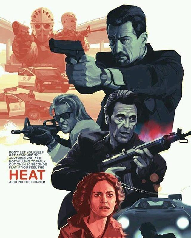 Heat (1995) Exclusive fan art poster