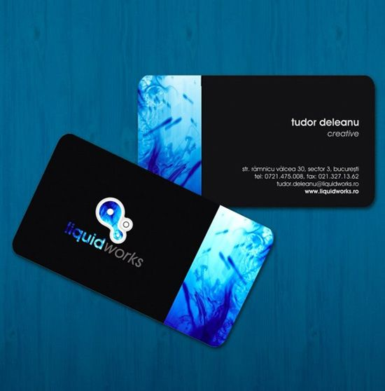 12 best business cards images on pinterest business card design liquidworks business card by itudor 20 beautiful business card designs reheart Choice Image
