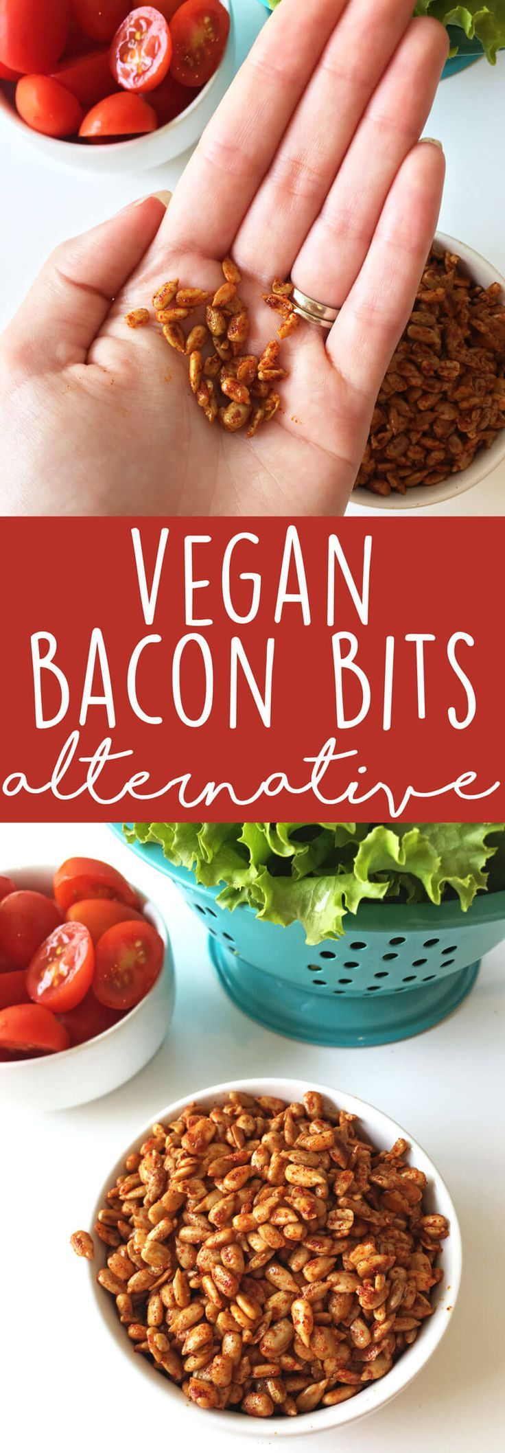 Healthy vegan salad recipes don't have to be bland and boring! Make these super simple and quick vegan bacon bits to jazz up your salad and add lots of delicious, smokey, salty flavor. This vegan bacon bits alternative recipe calls for simple, wholesome i