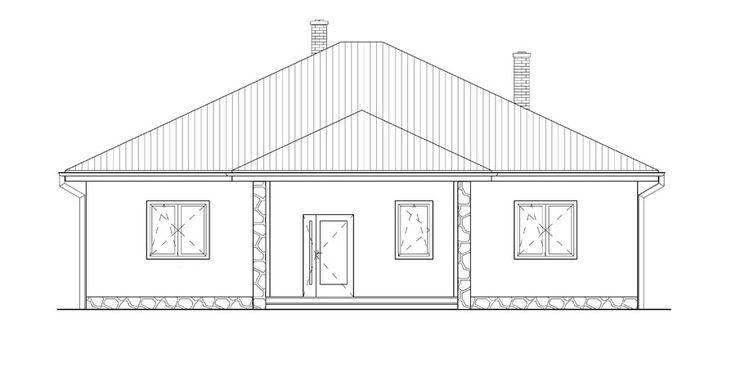 prizemny dom pohlad z predu / ground plan / bungalow / house / projekt