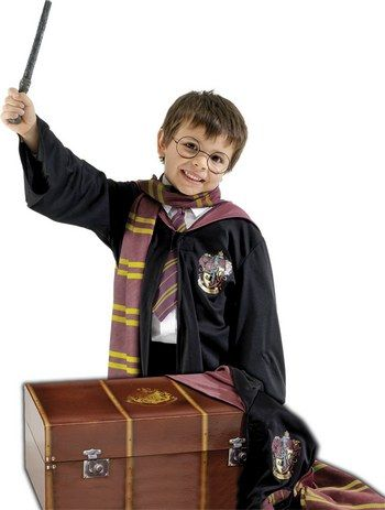 Harry Potter......... Best movies ever!  Kids Harry Potter Trunk Childrens Robe, Scarf, Tie, Glasses & Wand Fancy Dress (R64037) | TV Film and Music | Harry Potter