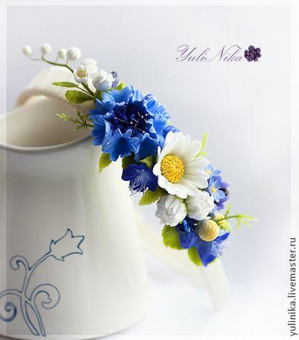 Диадемы, обручи ручной работы. Ярмарка Мастеров - ручная работа Ободок с полевыми цветами. Handmade.