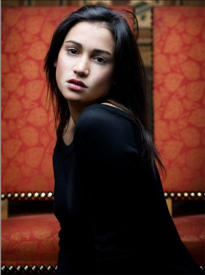 Morjana Alaoui, French actress.  I know myself and I know I will never sleep again if I watch Martyrs but Alaoui and Jampanoï are gorgeous.