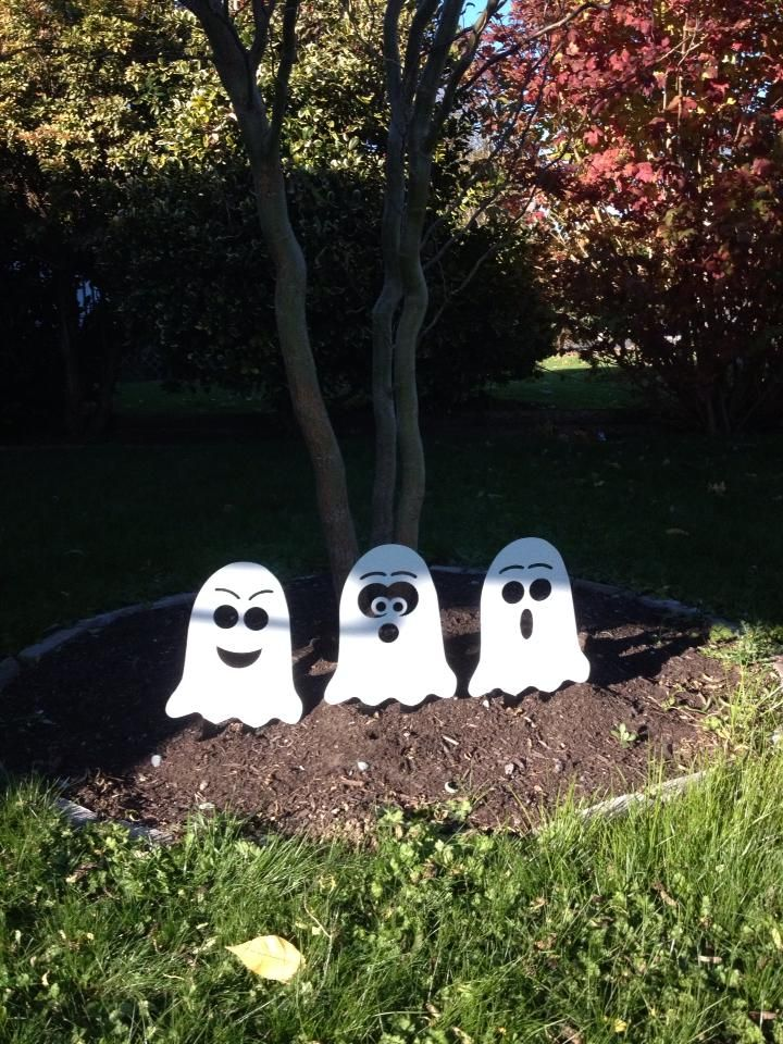 Inspirational Ghost made with BurnTables CNC Plasma Table ghost Halloween yardart