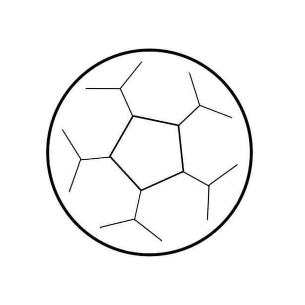 Een voetbal tekenen - wikiHow