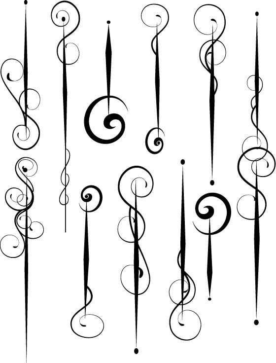 Swirl Free Illustrator Vector--these would be great dangle patterns