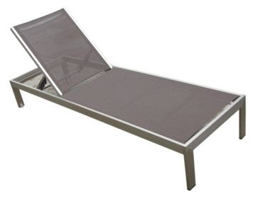 Outdoor aluminum textilene patio pool lounge resin 3 piece for Chaise longue textilene